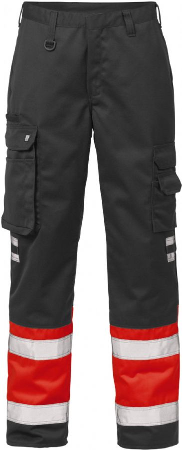 Fristads High Vis Trousers CL 1 213 PLU(Hi Vis Red/Black)